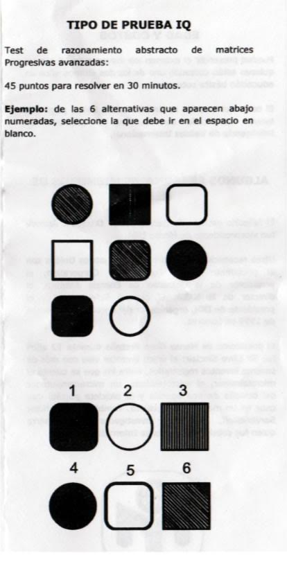 Ejemplo test Mensa Perú
